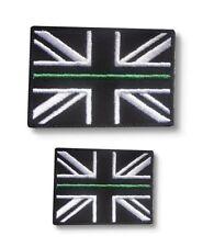 Thin Green Line Union Jack Hook & Loop backed patch Set Ambulance Paramedic