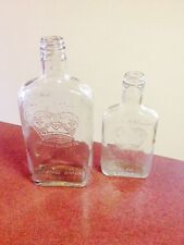 2 St Pierre Smirnoff vodka liquor vintage empty bottles clear glass bottle