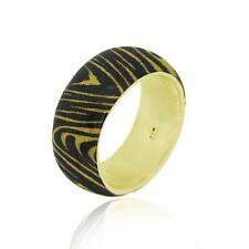 18k Gold Over 925 Silver Enamel Tiger Print Ring Size 8