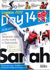 OLYMPIC GAMES DAY 14 FOURTEEN DAILY PROGRAMME LONDON 2012
