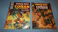 SAVAGE TALES COMIC MAGAZINES featuring Conan #2 & #3 *VF/NM/Unread* Vol. 1