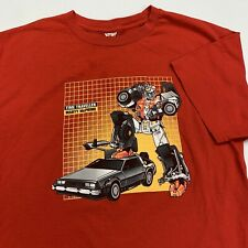 Marty McPrime Transformers T Shirt Adult M Red Autobots Back 2 the Future Funny