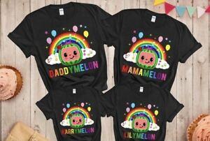 Cocomelon  Custom Birthday T-shirt for Kids Cocomelon Theme for birthday party