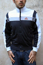 Adidas Dark Blue Grey Vintage Tracksuit Top Jacket  Shiny Mens XS S