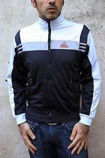 Adidas Dark Blue Grey Vintage Tracksuit Top Jacket  Shiny Mens XS S