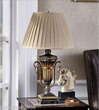 Simplicity Style 1 Light E27 Diameter 38.5Cm Resin+Fabric Bedroom Table Lamp