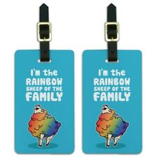 I'm The Rainbow Sheep of the Family Gay Pride Luggage ID Tags Cards Set of 2