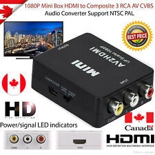 HDMI To AV 3 RCA Adapter Converter Cable CVBS Composite 1080P Video Audio For TV