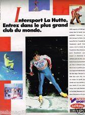 Publicité advertising 1987 Les magasins de sport La Hutte Intersport...Ski