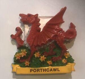 Wales  Dragon with Daffodil Porthcawl  Fridge Magnet