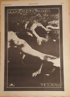 Siouxsie and the Banshees scream 1978 press advert Full page 28 x 39 cm poster