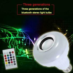 Wireless Bluetooth LED Light Speaker Bulb RGB E27 12W lamps Playing Music L5B4