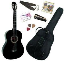 MSA Pack de Guitare Classique 4/4 Noire avec 5 Accessoires (5053839013364)