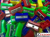 PLASTIC PENCIL SHARPENERS IN VARIOUS COLOURS AND QUANTITIES