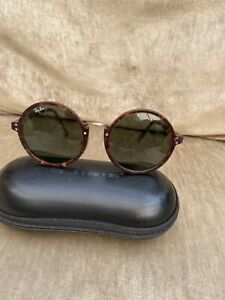 VINTAGE RAY BAN PREMIER C W 0858 BAUSCH AND LOMB TORTOISESHELL ROUND SUNGLASSES