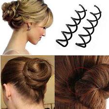 Lots 10pcs Womens Spiral Spin Screw Bobby Pin Hair Clip Twist Barrette Black
