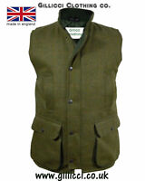 MENS DERBY COUNTRY TWEED FARMING SHOOTING  WAISTCOAT GILET BODYWARMER