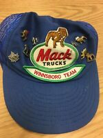 Vintage Mack Truck Winnsboro Team Hat with Bulldog Pin Collection