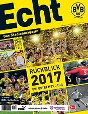 Programmheft # 135 - BVB 09 / TSG Hoffenheim ~ Rückblick 2017 Matchday programme