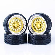 Set of 1/10 On-Road Car RC Flat Drift Tires Wheels Rim For HSP HPI 3mm offset