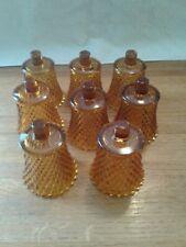 Eight Home Interior Amber Diamond Cut Votive Cups