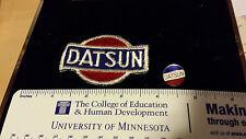 Vintage Automobile Datsun Pin and Patch Set