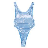 Women's One Piece High Cut Thong Leotard Bodysuit Swimwear Monokini Swimsuit