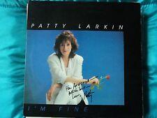 Patty Larkin I'm Fine 1987  PH-1115 FOLK ROCK ~ Canadian press signed  ~NM/EX