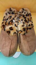 Women's Brown/Tan Leopard printed Half Slipper Size  S  5-6