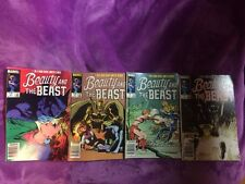 BEAUTY and The BEAST #1-4 1984 MARVEL COMICS X-MEN FULL & COMPLETE SERIES! Movie