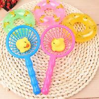 5pcs/set Mini Swimming Rings Rubber Yellow Ducks Cute Floating Baby Bath Toys!I