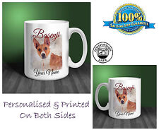 Basenji Personalised Ceramic Mug: Perfect Gift. (D143)