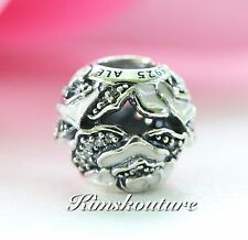 Authentic Pandora 791527EN40 Pink Delicate Rose Enamel Silver Bead Charm