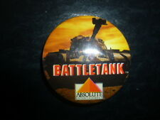 Battletank Video Game Store Pin Back Vintage Button Promotional Absolute Tank
