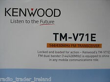 Kenwood TM-V71E (original folleto sólo)... radio _ trader _ Irlanda.