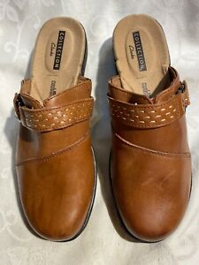Clarks Collection Women's New Brown Backless Clogs Size 7.5/38