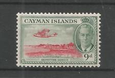 CAYMAN ISLANDS 1950 GEORGE 6TH 9d SCARLET & GREY-GREEN SG,143 M/M LOT 6533A