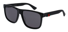 *NEW AUTHENTIC* GUCCI GG0010S 001 BLACK FRAME, GREY LENS SIZE 58mm