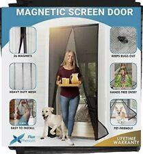 Flux Phenom Reinforced Magnetic Screen Door -  (Black)