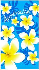 Blue Frangipani Beach   Pool Bath Towel   100% Cotton   Flowers   Australia