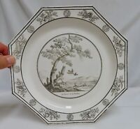 Antique French Faience Creil Plate, Fables of La Fontaine -  80591