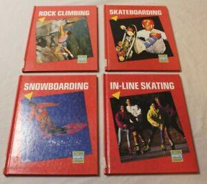 Set 4 Action Sports Library Books Skating Skateboarding Snowboarding Climbing