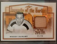 2019 - 2020 Leaf In The Game Used Woody Dumart  11/20 #LOTG-06 Hockey Card