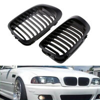 2×Front Kidney Sport Grilles Set For E46 3 Series 318i 325Ci Coupe Convertible