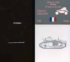 Jordi Rubio French 47mm 75mm. Char Barrel Tamiya Tank Kit TG90