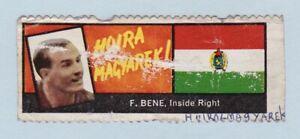 Football Sticker/Stamp - World Cup Footballers (A. & B.C. Gum) #F. Bene/Hungary