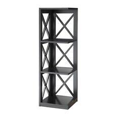 Convenience Concepts Oxford 3 Tier Corner Bookcase, Black - 203070BL