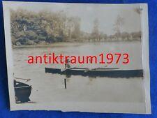 1 Foto Paderborn Fischteiche mit Boot Mai 1926 Nr.10