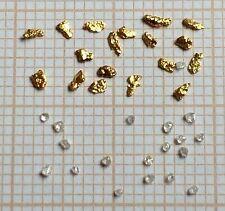 18 Pépites d'or + 18 diamants  °°° 18 Gold Nuggets + 18 diamonds