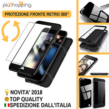 COVER CUSTODIA MAGNETICA 360° FRONTE RETRO CON VETRO APPLE IPHONE 6 6S 7 8 X XS